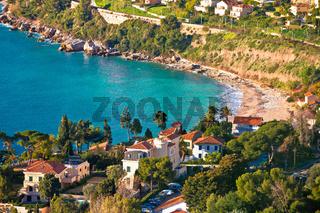 Cap Martin near Monaco idyllic bay and beach view