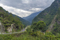 Cloudy weather at Lachen, Sikkim, India