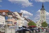 town square in Deggendorf
