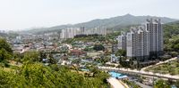Landscape, Buildings with Skyline of Donghae City, Gangwon Province, South Korea, Asia.