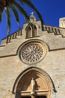 Sant Jaume cathedral in Alcudia,  Mallorca, Balearic Islands, Spain