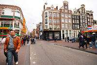 Streets of the city of Amsterdam capital of Netherlands