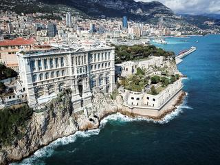 Blick auf Monaco Hafen Fontvieille