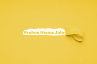 Frohes neues Jahr means happy new year in German