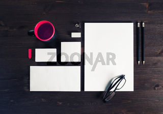 Blank corporate stationery