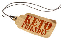 keto friendly isolated tag