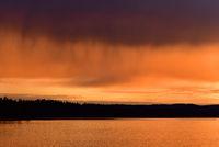 sunset in värmland - sweden
