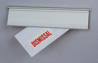 A letter in a mail slot - Dismissal