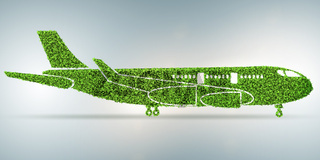 Green environmentally friendly vehicle concept - 3d rendering