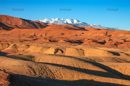 Landscape in Atlas Mountains Morocco