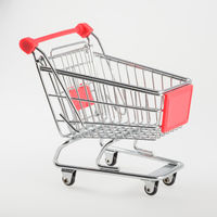 Shopping cart isolated on white background. Market,sale and consumerism concept.
