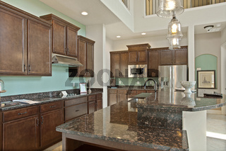 Modern Kitchen Home Interior with Hardwood and Wooden Cabinets Furniture Ideal Decoration Clean Contemporary New Style