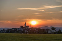 Countryside Sankt Peter - Austria - in the romantic sunset