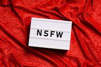 nfsw is internet slang for not safe for work