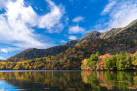 Autumn Lake Yunoko Japan