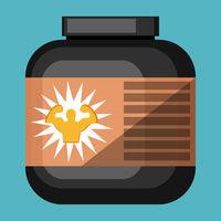 Gym Box vector color illustration.