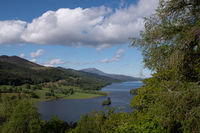 Looking at scottish Loch from above