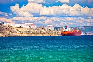 LNG terminal on Krk island view