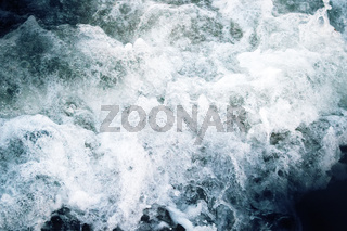 Oceanic waves during storm.
