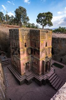 Lalibela, Ethiopia. Famous Rock-Hewn Church of Saint George - Bete Giyorgis