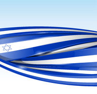 israel  flag banner. Vector background