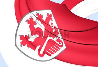3D Flag of Braunschweig