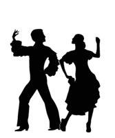 Rumba dancers silhouettes