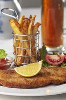 Wiener Schnitzel auf einem Teller