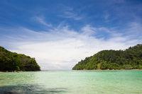 Paradise beach at Sapi island Sabah Malaysia