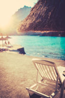 Tropical Coast Scene At Sunset