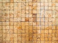 Square wood blocks wall texture