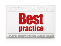 Learning concept: newspaper headline Best Practice