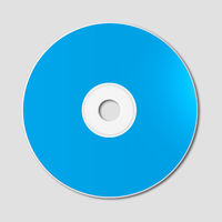 Blue CD - DVD mockup template isolated on Grey