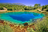 Cetina river source or the eye of the Earth landscape view