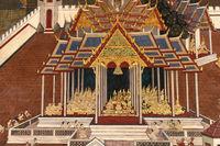 White pagoda in Wat Phra Kaew murals