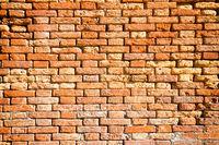 Brick red wall texture