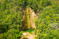 aerial view of El Limon waterfall