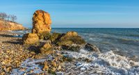 Stone pillar on the Black Sea coast
