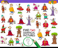find two identical characters game for kids