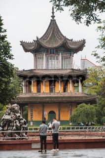 People in Revolution Park in Xian