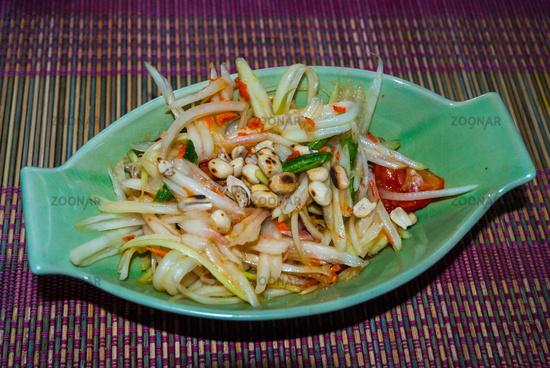 Papaya salad, served