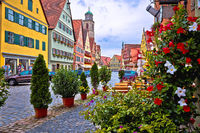 Colorful German facades of historic town of Dinkelsbuhl