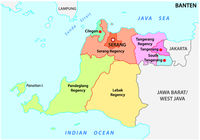 Banten administrative and political vector map, Indonesia