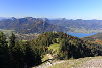 view to lake tegernsee in bavaria
