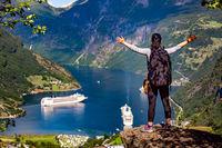 Geiranger Fjord Beautiful Nature Norway.