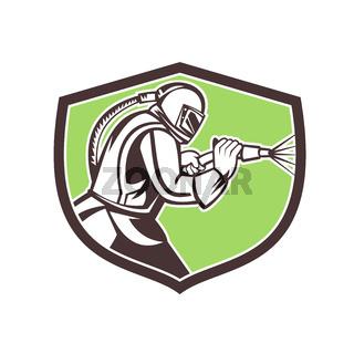 Abrasive Blasting Mascot Crest