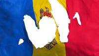 Ragged Moldova flag
