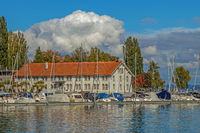 Harbour and Museum Altes Zollhaus (old custom house), Canton Thurgau, Switzerland