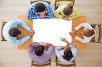 Business people team with blank paper
