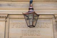 Public Library Junior Entrance Sign